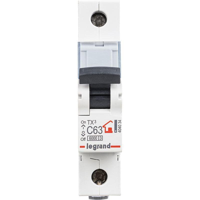 Выключатель автоматический модульный 1п C 63А 6кА TX3 6000 1мод. 230/400В Leg 404034