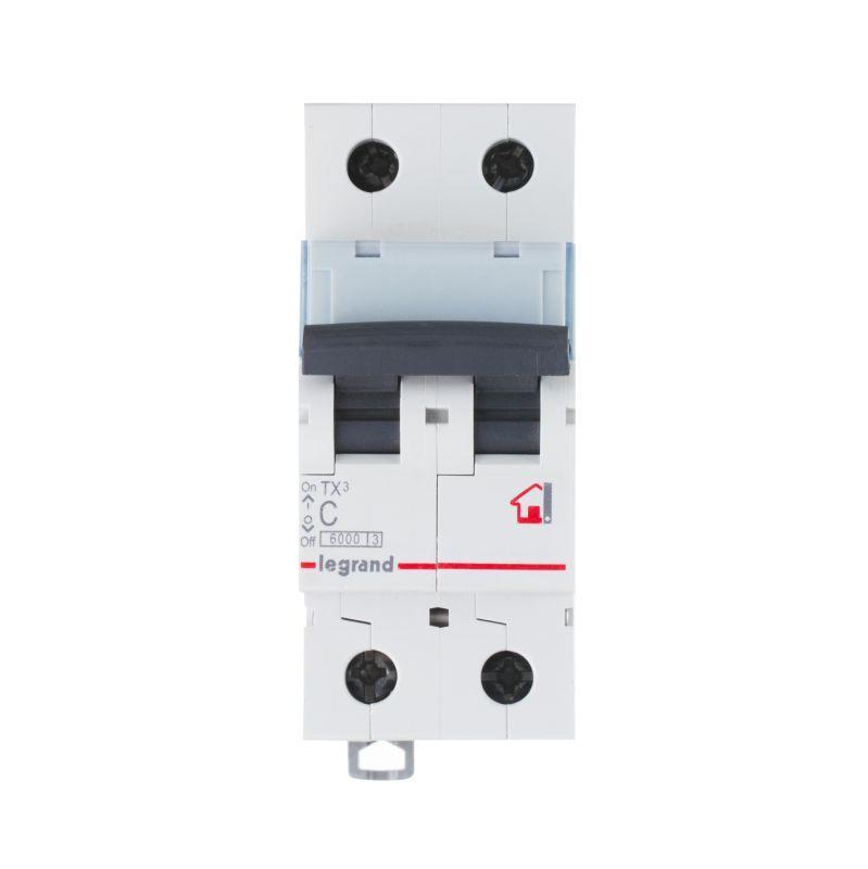 Выключатель автоматический модульный 2п C 40А 6кА TX3 6000 2мод. 230/400В Leg 404046