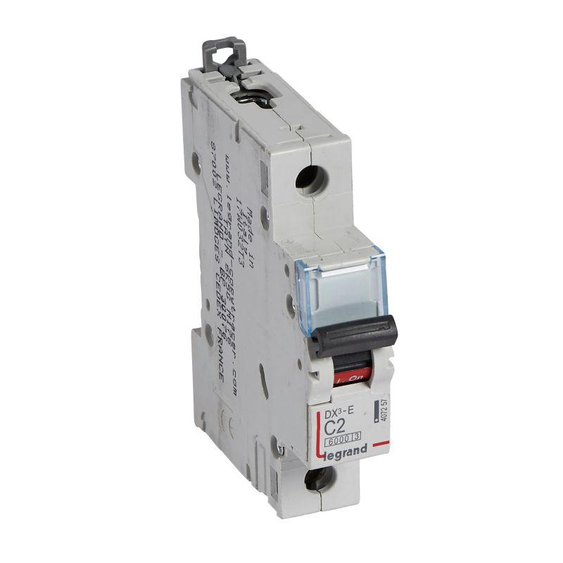 Выключатель автоматический модульный 1п C 2А 6кА DX3-E 6000 1мод. 230/400В Leg 407257