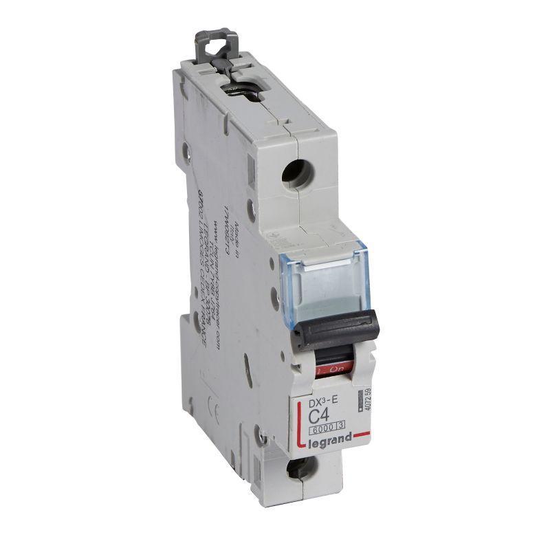 Выключатель автоматический модульный 1п C 4А 6кА DX3-E 6000 1мод. 230/400В Leg 407259