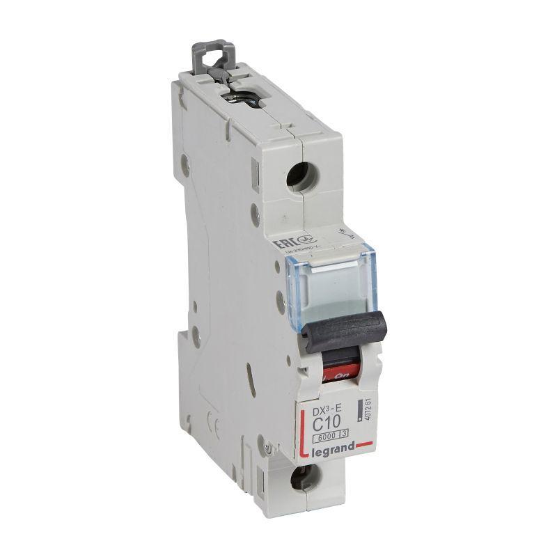 Выключатель автоматический модульный 1п C 10А 6кА DX3-E 6000 1мод. 230/400В Leg 407261