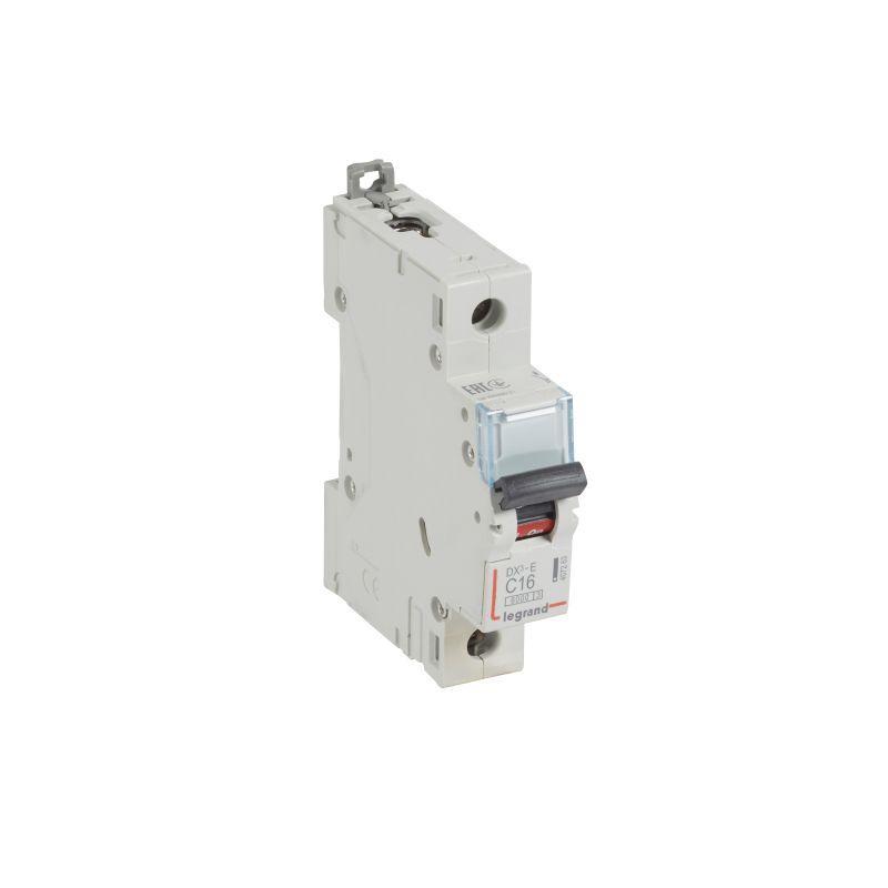 Выключатель автоматический модульный 1п C 16А 6кА DX3-E 6000 1мод. 230/400В Leg 407263