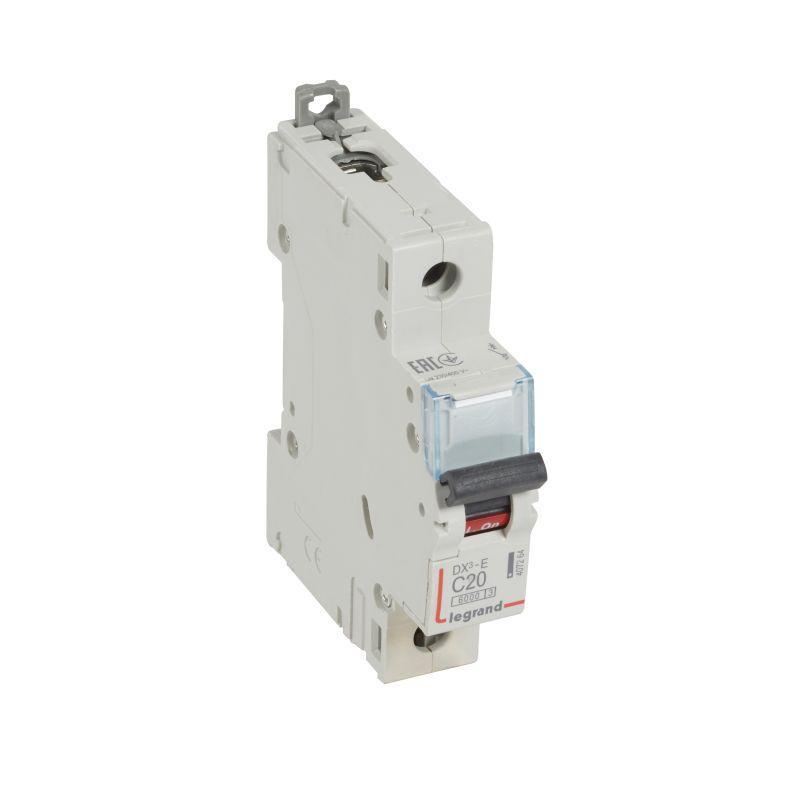 Выключатель автоматический модульный 1п C 20А 6кА DX3-E 6000 1мод. 230/400В Leg 407264
