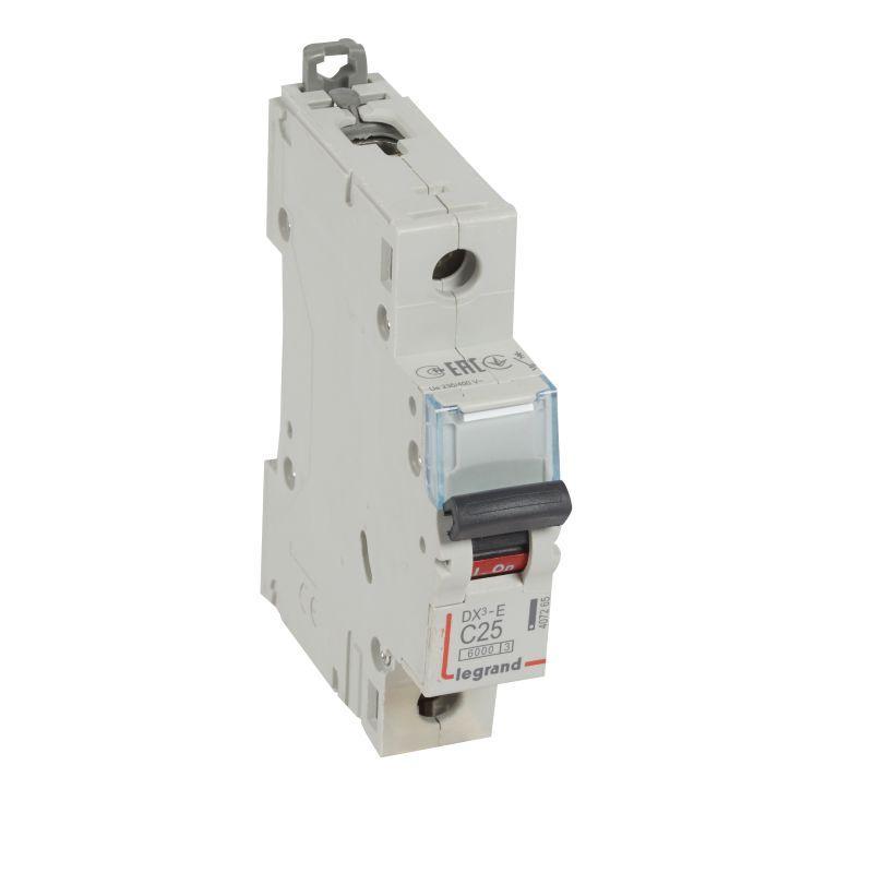 Выключатель автоматический модульный 1п C 25А 6кА DX3-E 6000 1мод. 230/400В Leg 407265