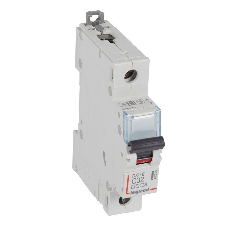 Выключатель автоматический модульный 1п C 32А 6кА DX3-E 6000 1мод. 230/400В Leg 407266
