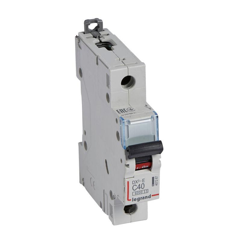 Выключатель автоматический модульный 1п C 40А 6кА DX3-E 6000 1мод. 230/400В Leg 407267