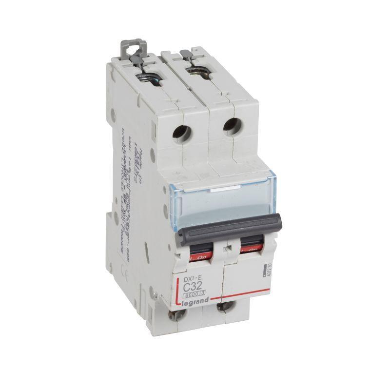 Выключатель автоматический модульный 2п C 32А 6кА DX3-E 6000 2мод. 230/400В Leg 407280