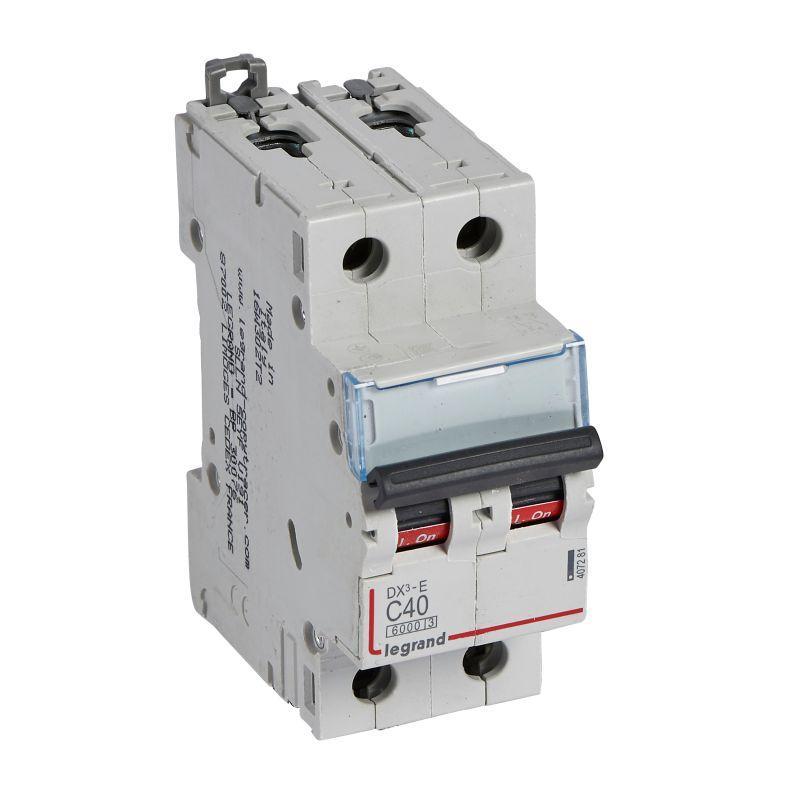 Выключатель автоматический модульный 2п C 40А 6кА DX3-E 6000 2мод. 230/400В Leg 407281