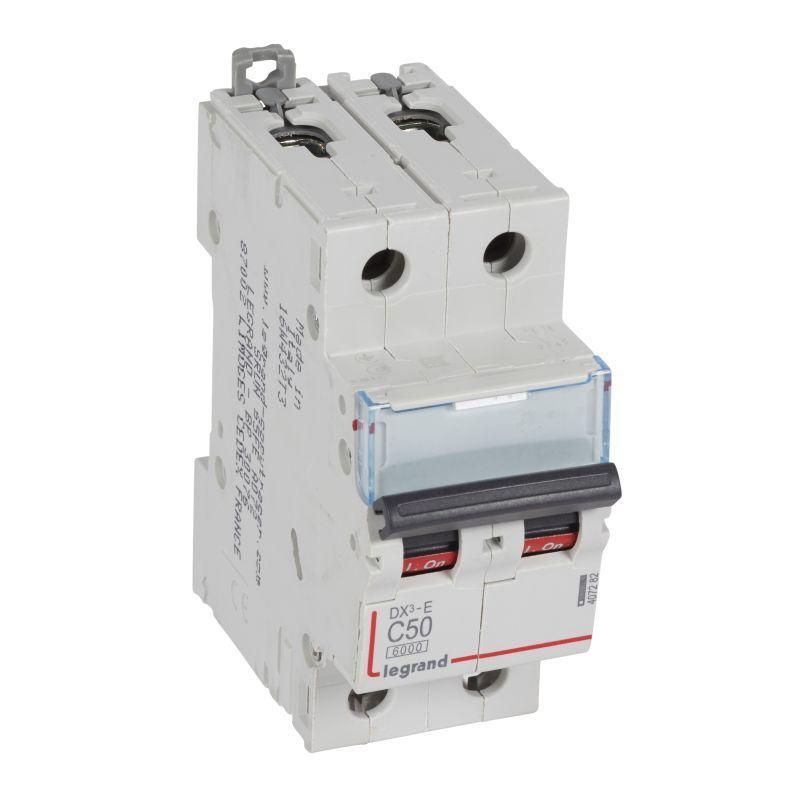 Выключатель автоматический модульный 2п C 50А 6кА DX3-E 6000 2мод. 230/400В Leg 407282