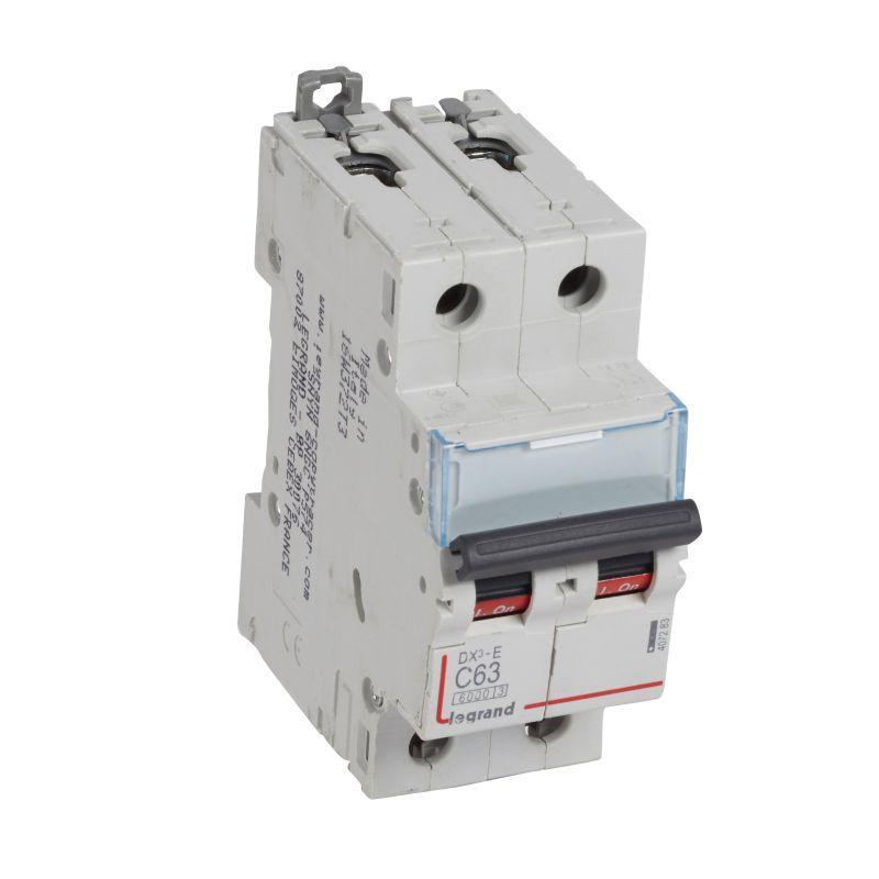 Выключатель автоматический модульный 2п C 63А 6кА DX3-E 6000 2мод. 230/400В Leg 407283