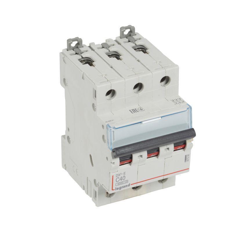Выключатель автоматический модульный 3п C 40А 6кА DX3-E 6000 3мод. 230/400В Leg 407295