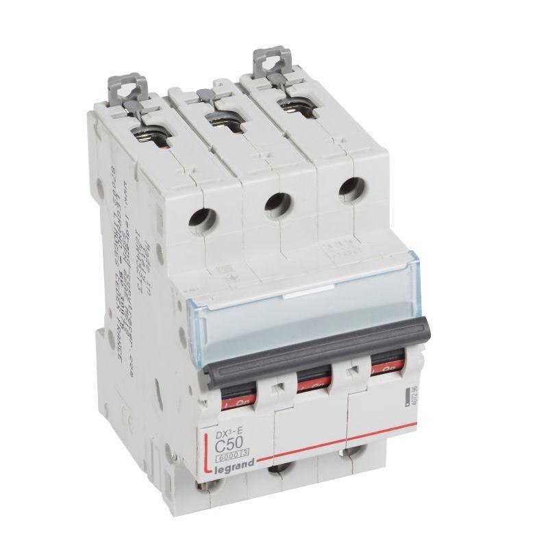 Выключатель автоматический модульный 3п C 50А 6кА DX3-E 6000 3мод. 230/400В Leg 407296