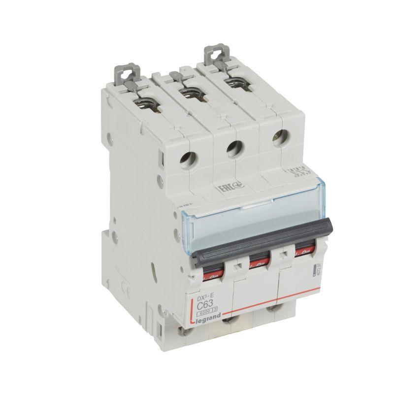 Выключатель автоматический модульный 3п C 63А 6кА DX3-E 6000 3мод. 230/400В Leg 407297