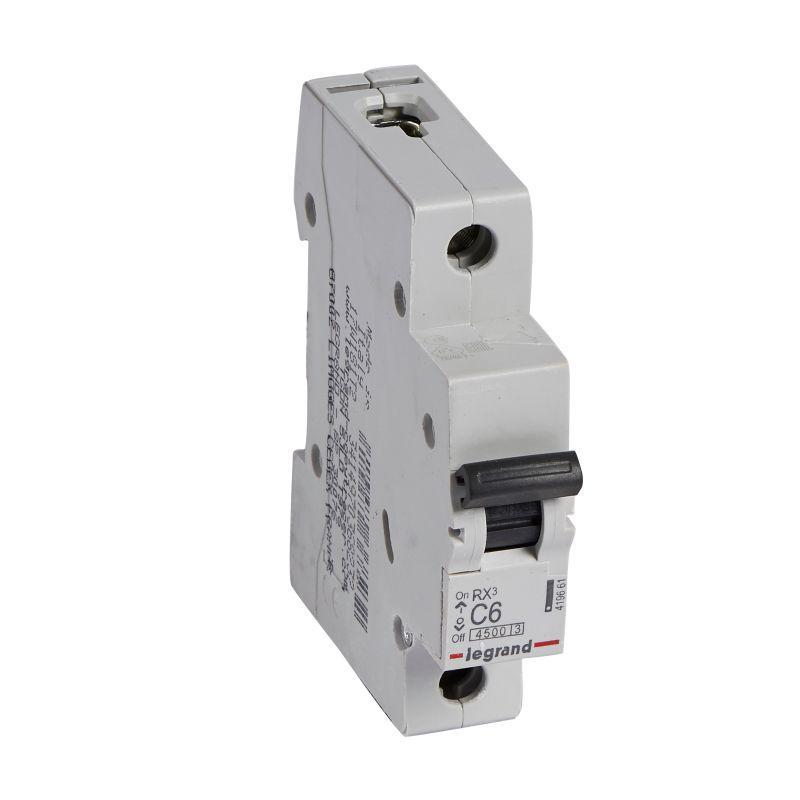 Выключатель автоматический модульный 1п C 6А 4.5кА RX3 Leg 419661