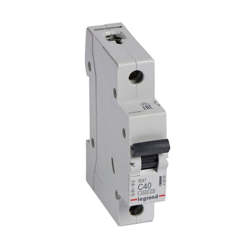 Выключатель автоматический модульный 1п C 40А 4.5кА RX3 Leg 419668