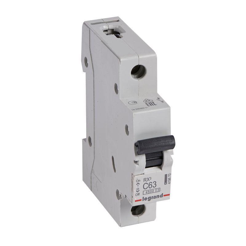 Выключатель автоматический модульный 1п C 63А 4.5кА RX3 Leg 419670