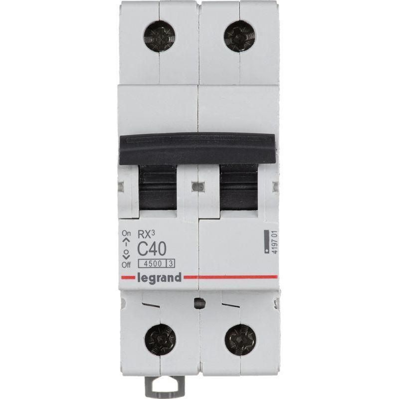 Выключатель автоматический модульный 2п C 40А 4.5кА RX3 Leg 419701