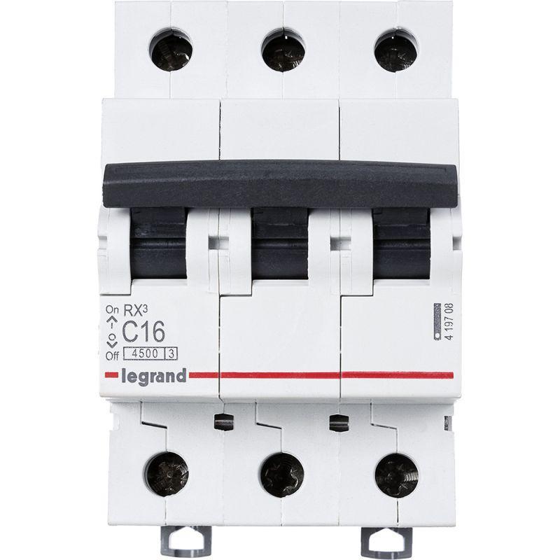 Выключатель автоматический модульный 3п C 16А 4.5кА RX3 Leg 419708