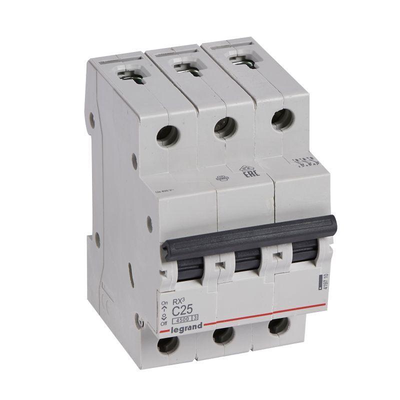 Выключатель автоматический модульный 3п C 25А 4.5кА RX3 Leg 419710