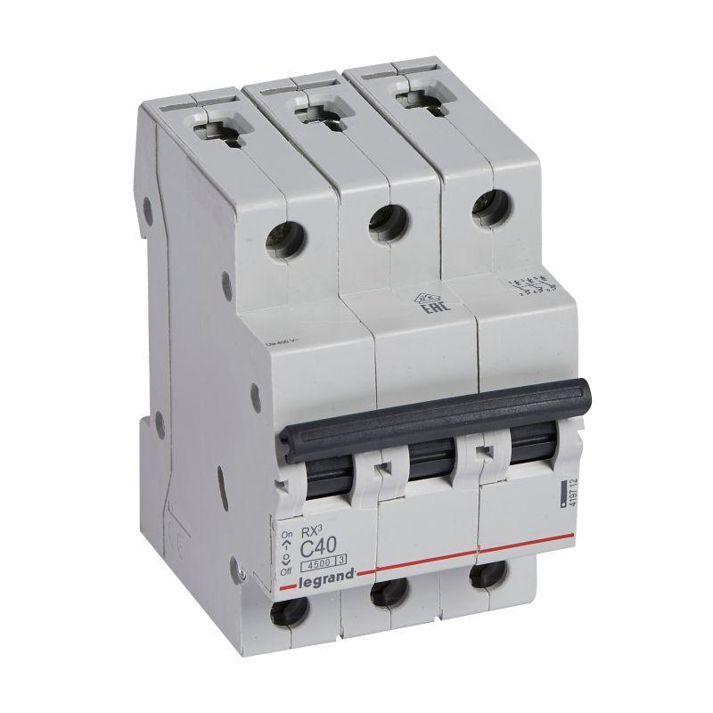 Выключатель автоматический модульный 3п C 40А 4.5кА RX3 Leg 419712
