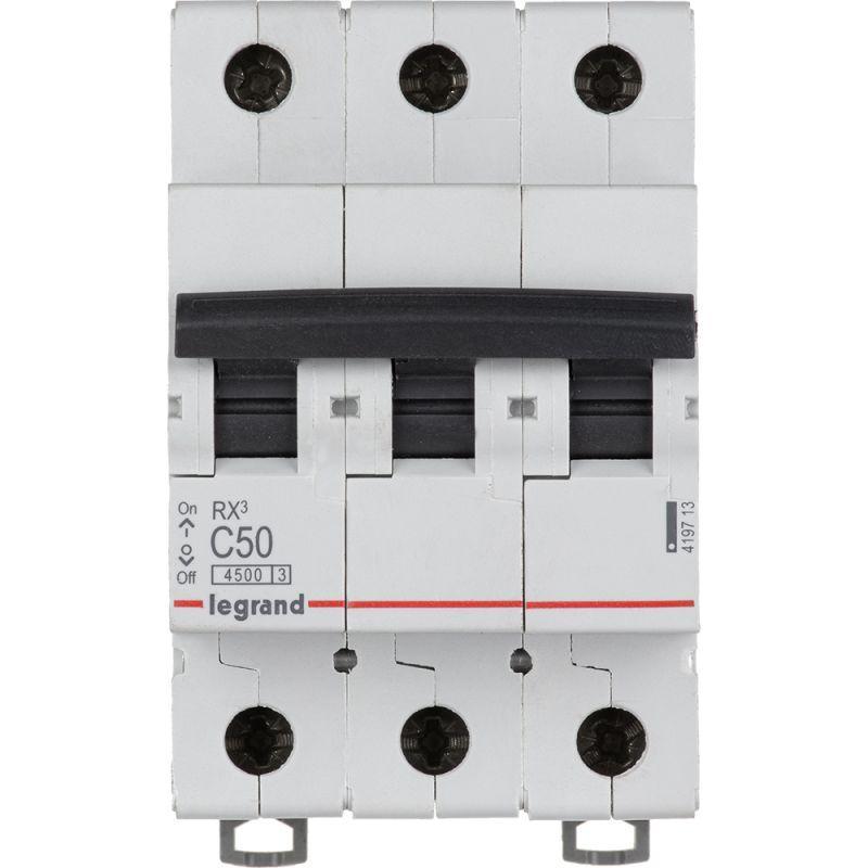 Выключатель автоматический модульный 3п C 50А 4.5кА RX3 Leg 419713