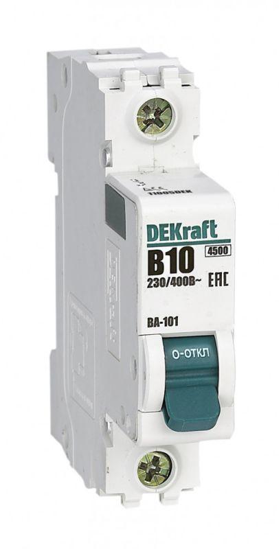 Выключатель автоматический модульный 1п B 10А 4.5кА ВА-101 SchE 11005DEK