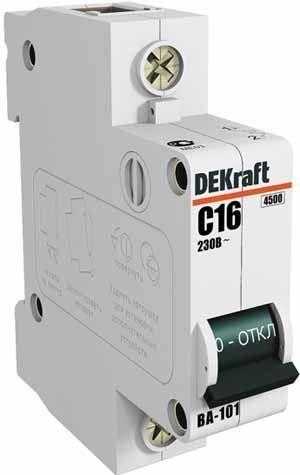 Выключатель автоматический модульный 1п C 1А 4.5кА ВА-101 SchE 11049DEK