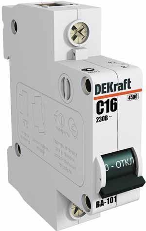Выключатель автоматический модульный 1п C 6А 4.5кА ВА-101 SchE 11052DEK