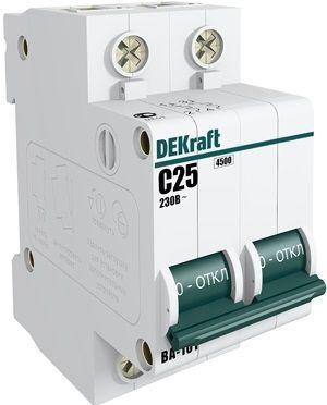 Выключатель автоматический модульный 2п C 6А 4.5кА ВА-101 SchE 11064DEK