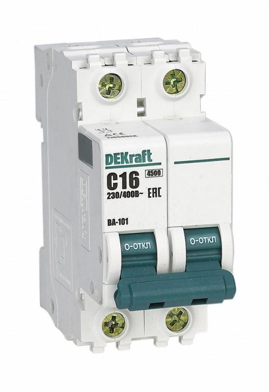 Выключатель автоматический модульный 2п C 16А 4.5кА ВА-101 SchE 11066DEK
