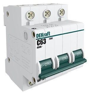 Выключатель автоматический модульный 3п C 63А 4.5кА ВА-101 SchE 11084DEK