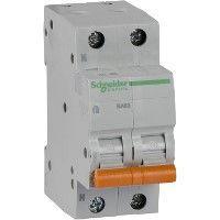 Выключатель автоматический модульный 2п (1P+N) C 10А 4.5кА BA63 Домовой SchE 11212