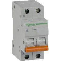 Выключатель автоматический модульный 2п (1P+N) C 16А 4.5кА BA63 Домовой SchE 11213