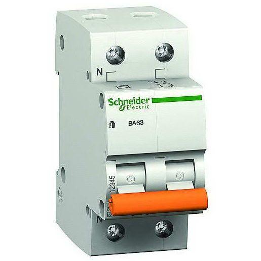 Выключатель автоматический модульный 2п (1P+N) C 20А 4.5кА BA63 Домовой SchE 11214