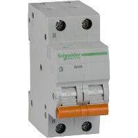 Выключатель автоматический модульный 2п (1P+N) C 25А 4.5кА BA63 Домовой SchE 11215
