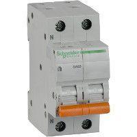 Выключатель автоматический модульный 2п (1P+N) C 50А 4.5кА BA63 Домовой SchE 11218