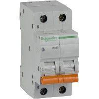 Выключатель автоматический модульный 2п (1P+N) C 63А 4.5кА BA63 Домовой SchE 11219