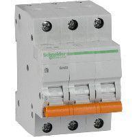 Выключатель автоматический модульный 3п C 16А 4.5кА BA63 Домовой SchE 11223