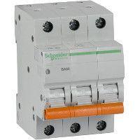 Выключатель автоматический модульный 3п C 40А 4.5кА ВА63 Домовой SchE 11227