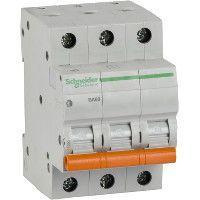 Выключатель автоматический модульный 3п C 63А 4.5кА ВА63 Домовой SchE 11229