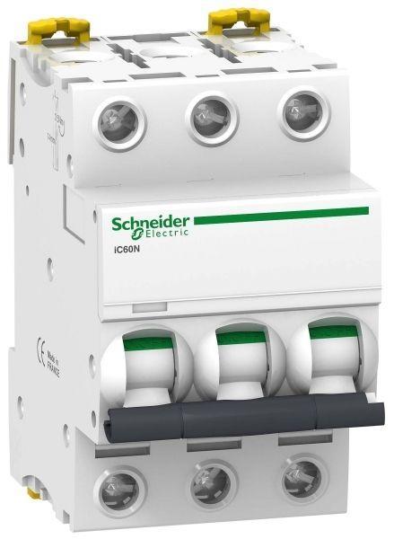 Выключатель автоматический модульный 3п D 16А 6кА iC60N Acti9 SchE A9F75316