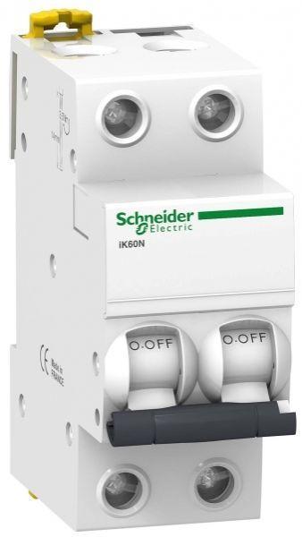 Выключатель автоматический модульный 2п C 63А 6кА iK60 Acti9 SchE A9K24263
