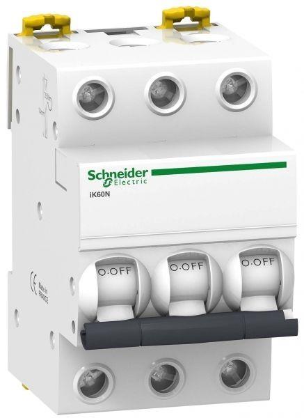 Выключатель автоматический модульный 3п C 6А 6кА iK60 Acti9 SchE A9K24306