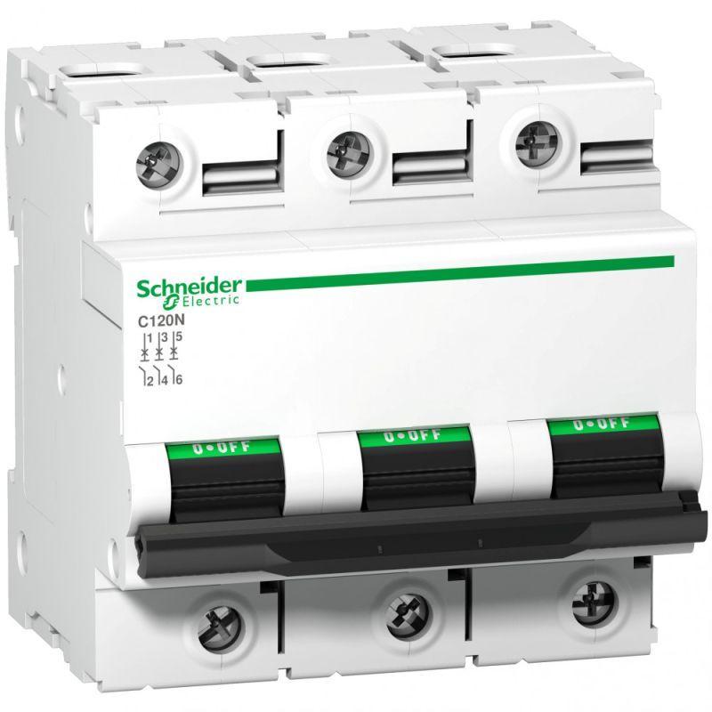 Выключатель автоматический модульный 3п C 80А 10кА C120N SchE A9N18365