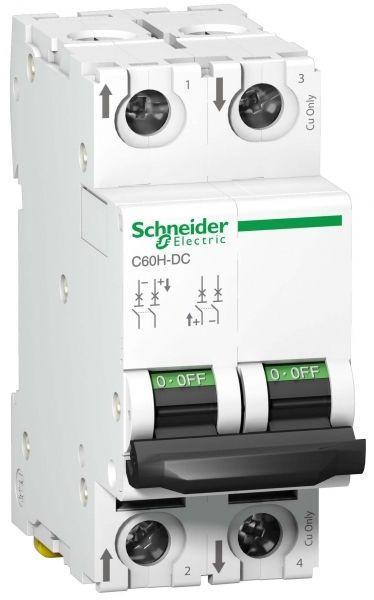 Выключатель автоматический модульный 2п C 3А 10кА C60H-DC DC SchE A9N61523