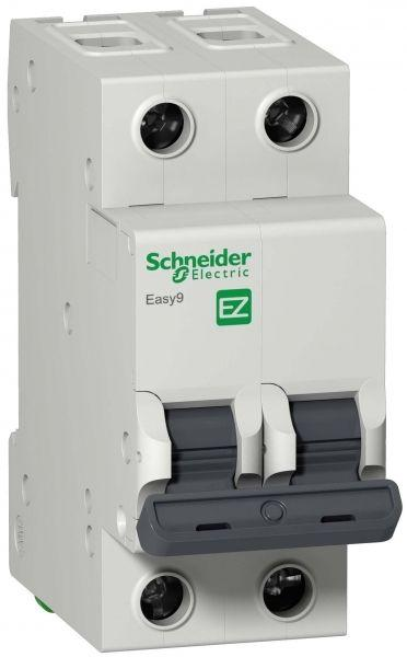 Выключатель автоматический модульный 2п C 6А 4.5кА EASY9 =S= SchE EZ9F34206