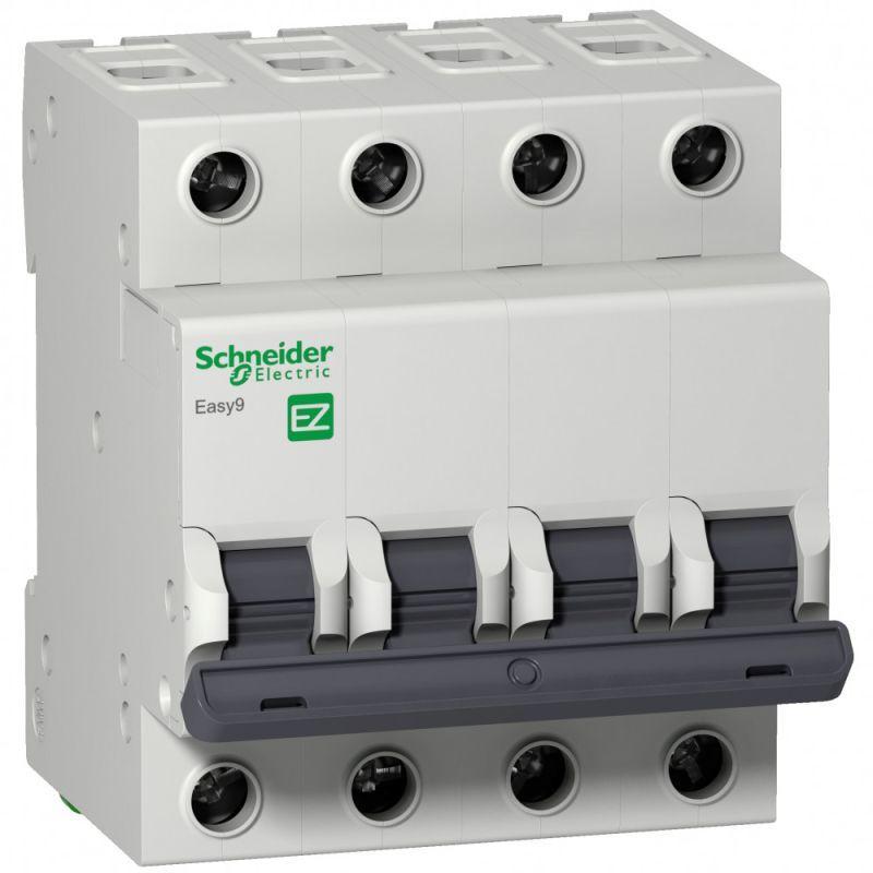 Выключатель автоматический модульный 4п C 40А 4.5кА EASY9 =S= SchE EZ9F34440