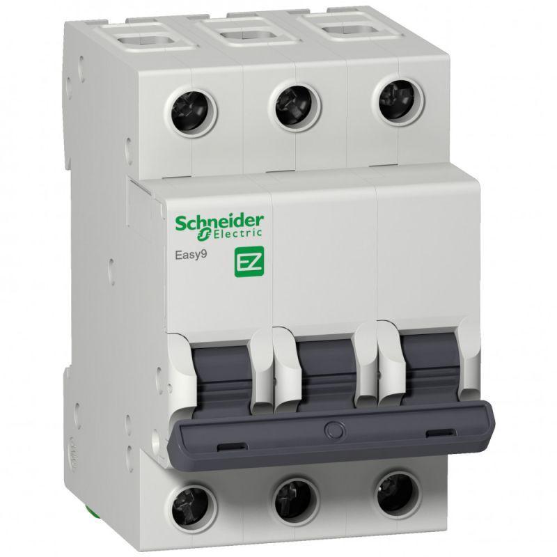 Выключатель автоматический модульный 3п C 50А 6кА EASY9 =S= 230В SchE EZ9F56350