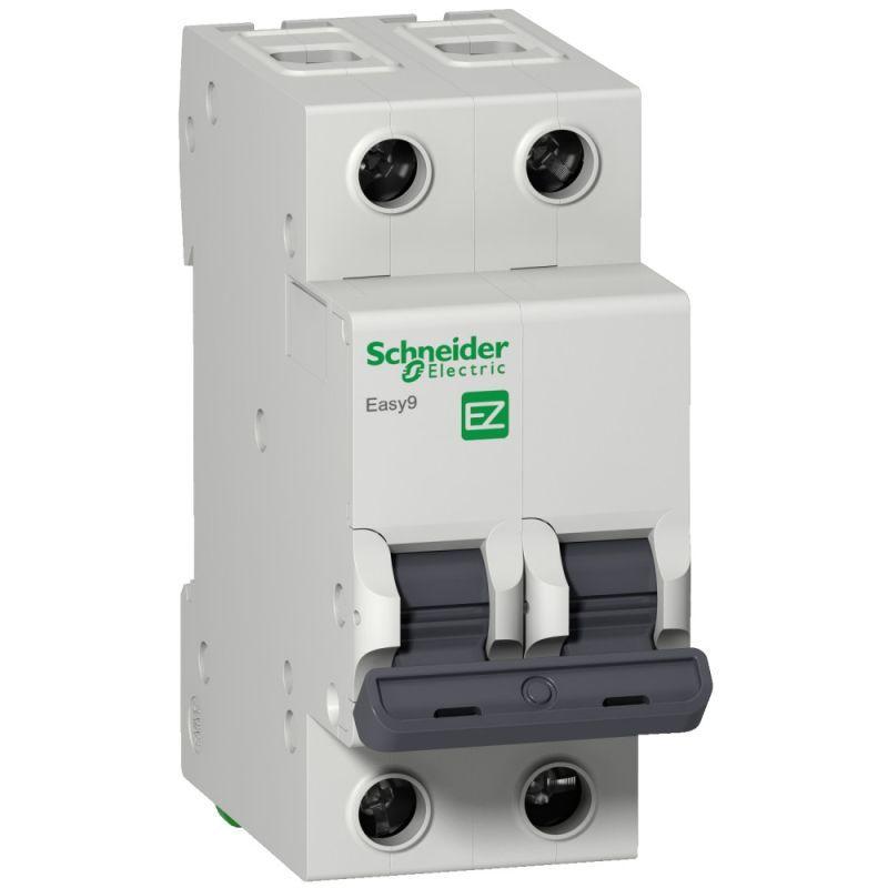 Выключатель автоматический модульный 2п D 50А 6кА EASY9 =S= 230В SchE EZ9F86250