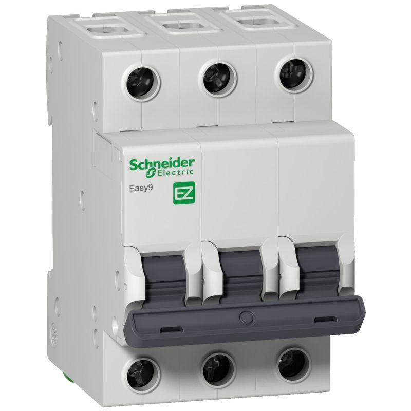 Выключатель автоматический модульный 3п D 63А 6кА EASY9 =S= 400В SchE EZ9F86363